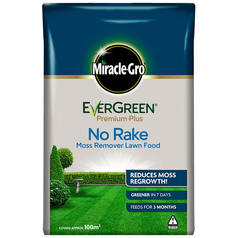 Miracle-Gro Evergreen Premium Plus No Rake Moss Remover Lawn Food 10kg (100m2)