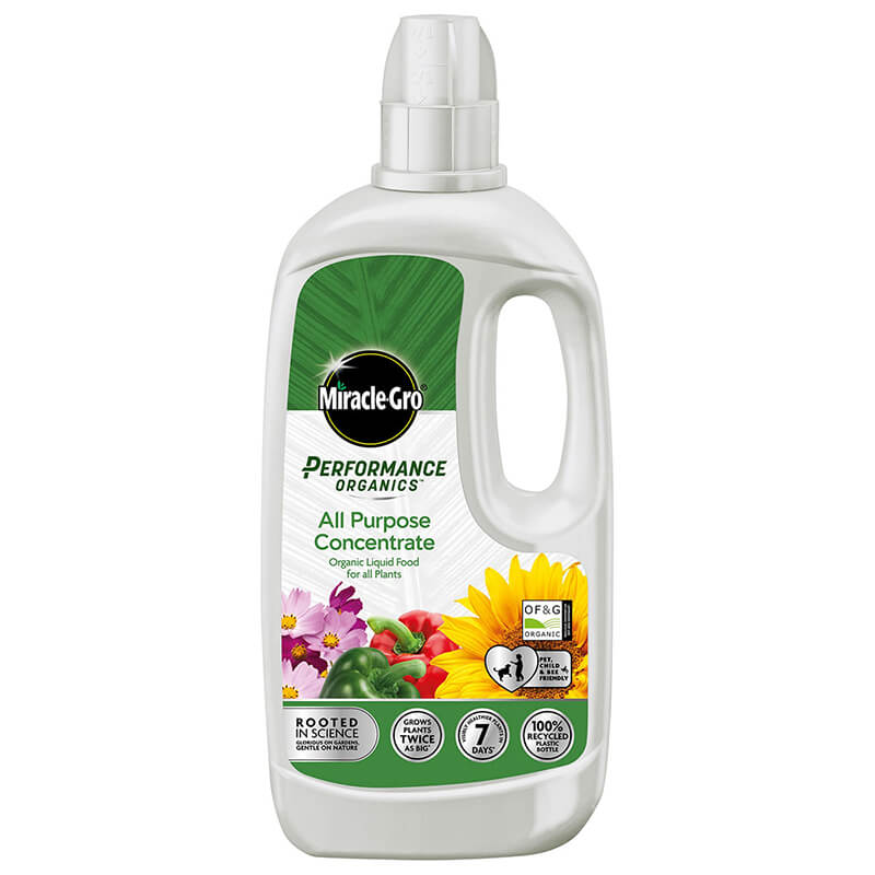 Miracle-Gro Performance Organics All Purpose Liquid Concentrate Food 1 Litre