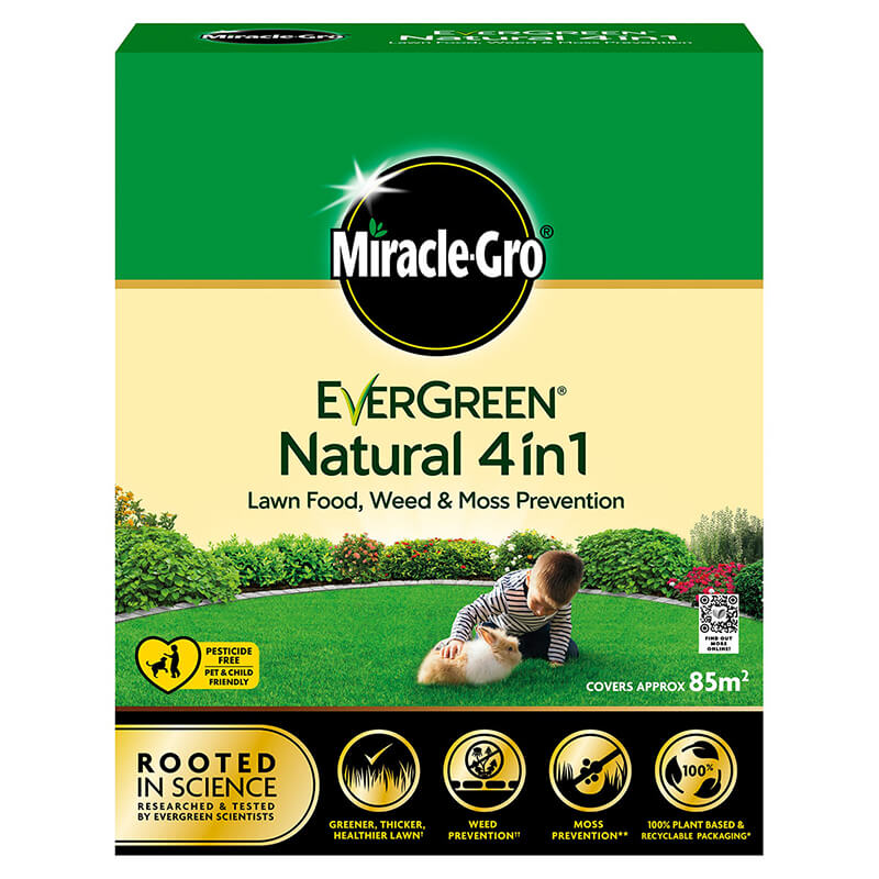 Miracle-Gro Evergreen Natural 4in1 3.5kg (85m2)