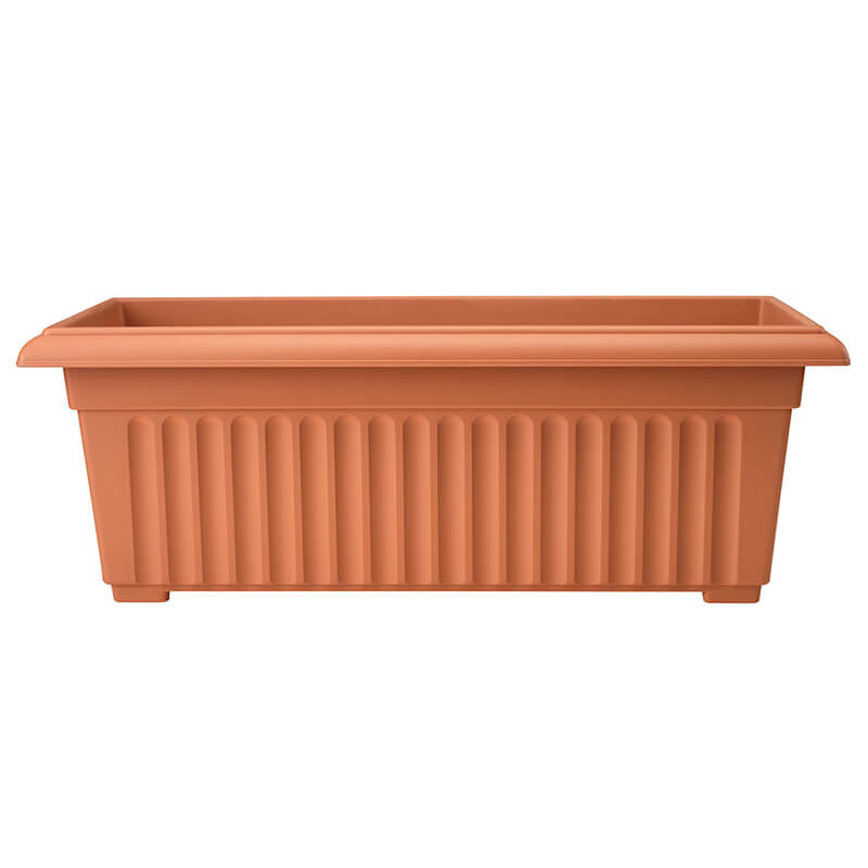 70cm Corinthian Trough in Terracotta