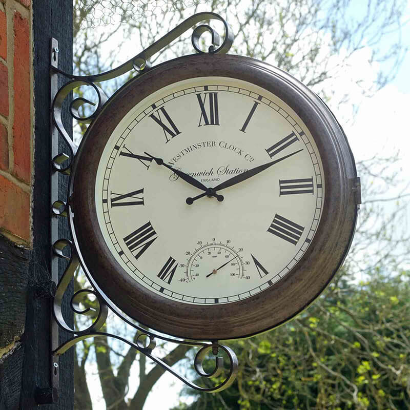 Greenwich Station Clock & Thermometer