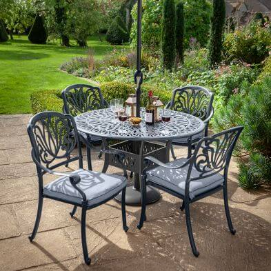 Amalfi 4 Seat Dining Set