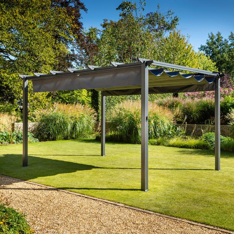 3x4m Roma Pergola with Side Curtains