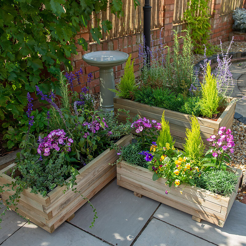 Durham Rectangular Planter - Set of 3