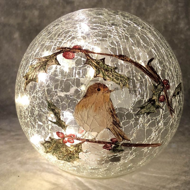 15cm Crackle Robin Ball