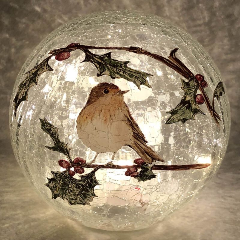20cm Crackle Robin Ball