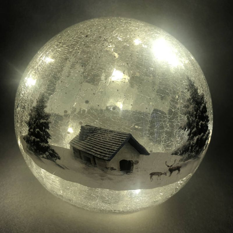 15cm Crackle Lodge Ball