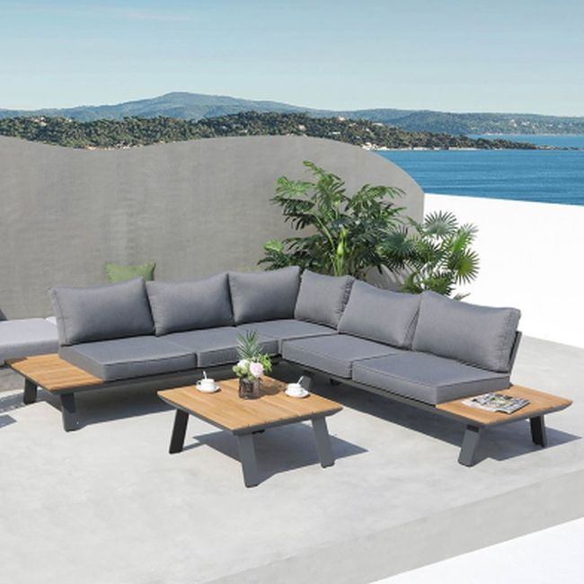 Ana Lounge Set with Teak Accent