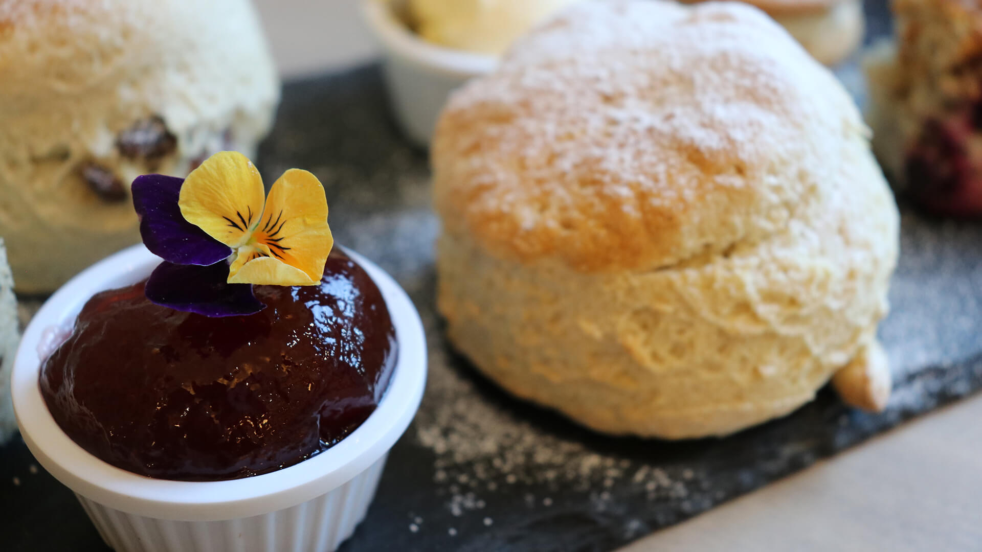 Scone and Jam at The Mulberry Tree